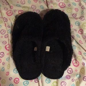 Shoes - Black fuzzy slippers